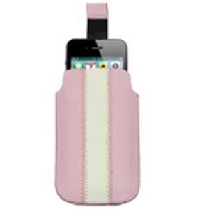 Кожаный чехол с пулом для iPhone 3G / 3GS / 4 и др (розовый)