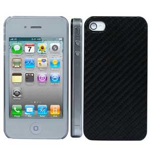 Пластиковый корпус сверху карбоновый для iPhone 4