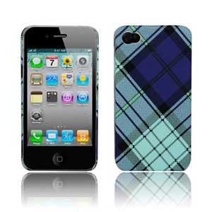 Клетчатый Пластиковый корпус для iPhone 4