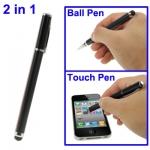 2 в 1 Стилус для планшетов - Стилус 2 в 1 . Металлический стилус, с одной стороны стилус с другой стороны обычная ручка с колпачком. Цвет - черный.