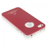 Air Jacket алюминиевый чехол iphone 4/4s - Алюминиевый чехол для iphone 4/4s фирмы Air Jacket класса люкс.  Цвета-  черный и красный.