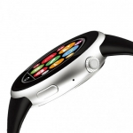 Aiwatch C5 - Кнопка SOS. Пульсометра, ультрафиолет, шагомер, контроль сна, анти вор, округлый сенсор устойчив к царапинам. Просмотр фото, видео. Синхронизация Android, IOS. Сим кара.