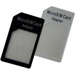 Micro Sim Adapter (Микро Сим адаптер) - MicroSIM Adapter позволит вам использовать SIM-карты уменьшенного размера и новейшие Micro Sim/3ff/mini-UICC SIM-карты в устройствах с различными стандартами, старого и нового миниатюризированного поколения слотов под SIM-карты. Теперь, обладая iPhone или iPad, не нужно иметь 2 контракта с оператором связи для использования разного типа SIM-карт в обоих устройствах.