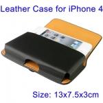 Кожаный чехол для iPhone 4, с зажимом (на пояс)