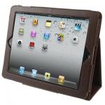 "Кожаный чехол ""книжка"" iPad 2/iPad 3 коричневый"