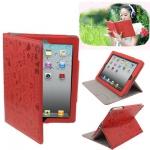 "Кожаный чехол ""Милашка"" iPad 2/iPad 3 Красный"