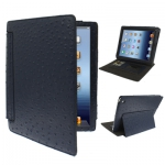 Страус текстура iPad2/iPad3 темно-синий