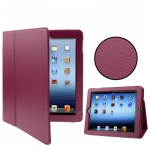 """Кожаный чехол """"книжка"""" iPad 2 / iPad 3  светло-бордовый"""