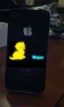 На заказ любой светящийся логотип, надпись, рисунок - Оригинальный, свой iPhone 4/4s. Рисунок, надпись по ВАШЕМУ усмотрению и дизайну.