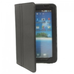 Кожаный чехол для Samsung Galaxy Tab (GT-P1000) Черный - Кожаный чехол с держателем для Samsung Galaxy Tab (GT-P1000), Черный