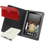 чехол обложка Amazon Kindle Fire подставка (черный, красный, бел - чехол Amazon Kindle Fire типа книжка-подставка (черный, красный, белый цвета.)
