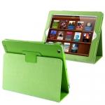 Кожаный чехол iPad 2/iPad 3 зеленый - Sleep/Wake up. Кожаной чехол для iPad 2/iPad 3/ iPad 4 книжка. Из нутри замш.  Инновационный дизайн, максимальная защита.