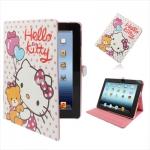 "Чехол iPad2/iPad3 ""Hello Kitty"" белый в горошек"