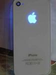 iGlow светящееся яблоко iPhone 4/4S Блу-рей - Неоновое Яблоко, голубой цвет.  Светящийся логотип Apple.  Светится при включенном дисплее, при приеме вызовов и смс, не разряжает батарею! Подключается без пайки, в комплекте есть все необходимое для установки + инструкция по установке.