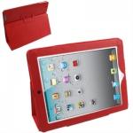 """Кожаный чехол """"книжка"""" iPad 2/iPad 3 красный"""